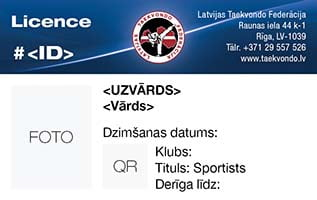Athlete Licence